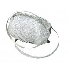 Vázací stuha glitter - stříbrná