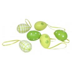 Vejce plastová velikonoční Kytičky