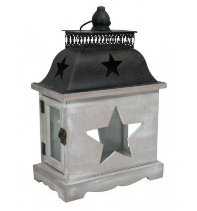 Dřevěná lucerna Hvězda