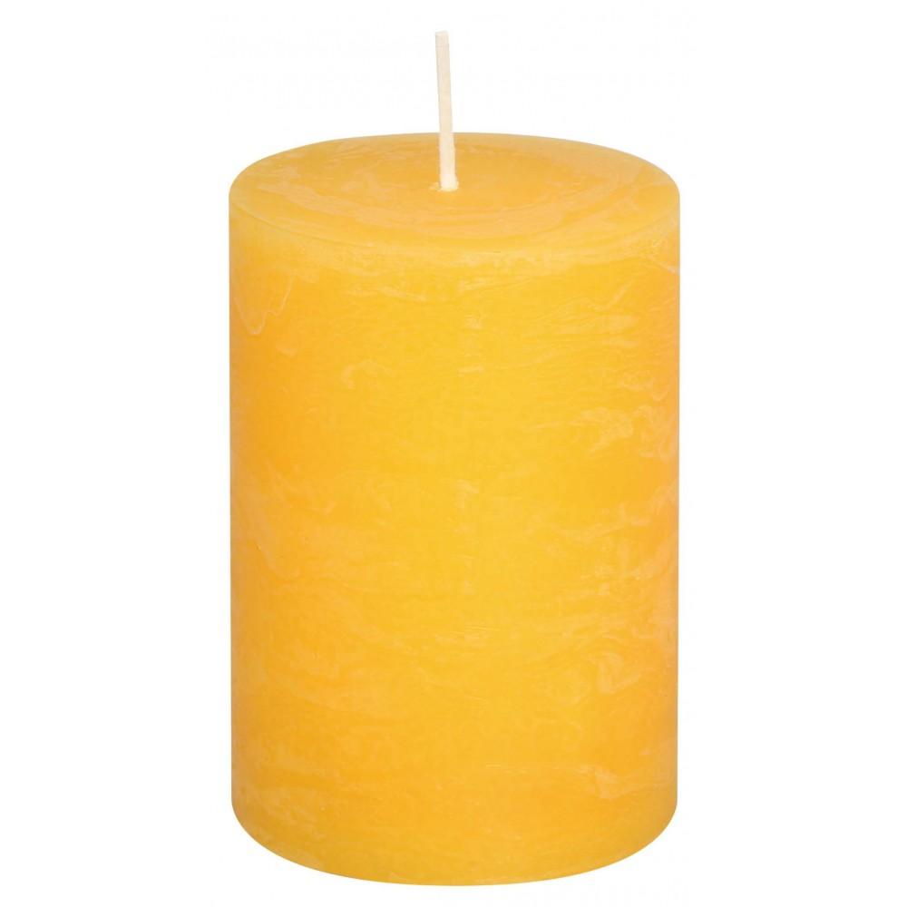 Svíčka RUSTIC žlutá 13 cm