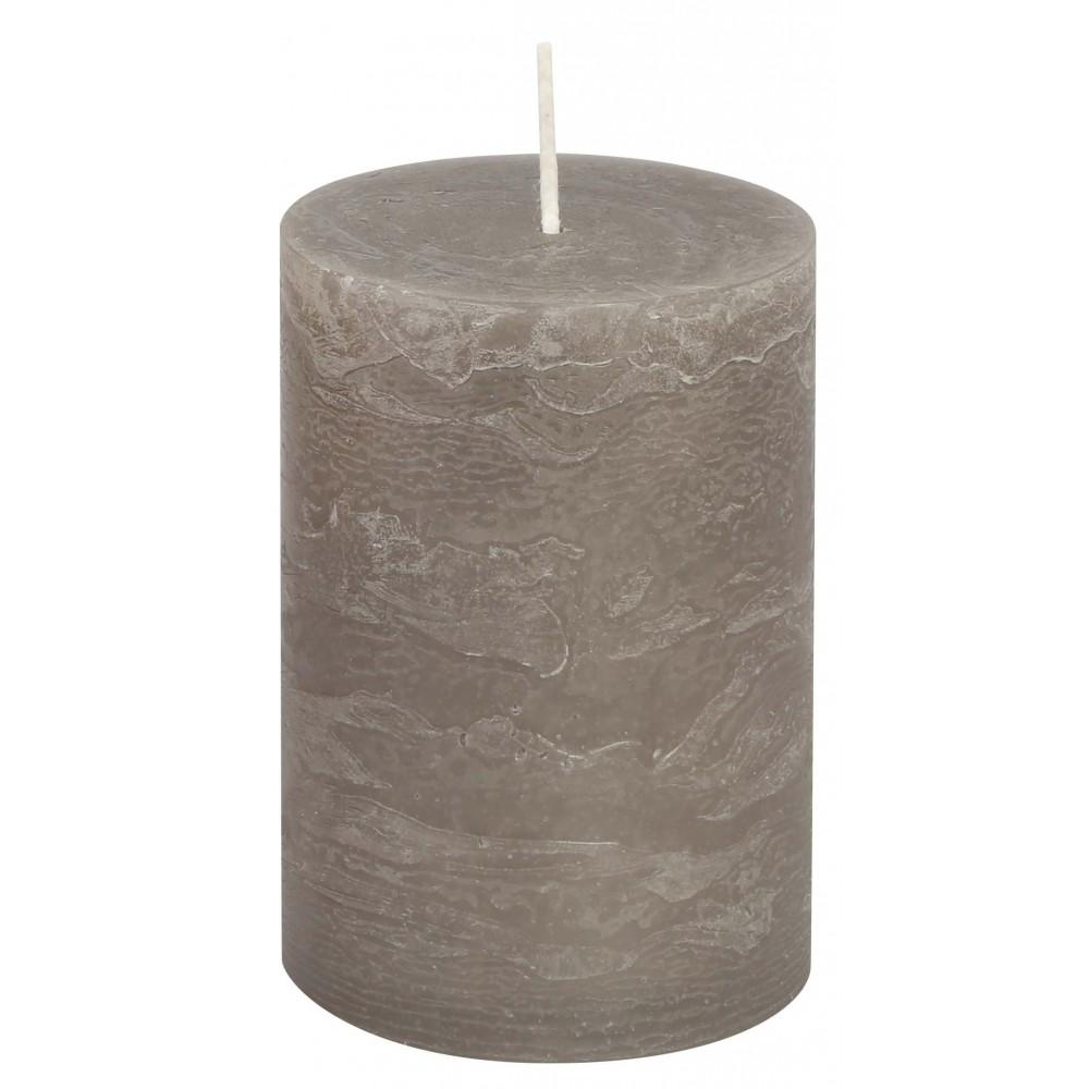 Svíčka RUSTIC šedá 13 cm