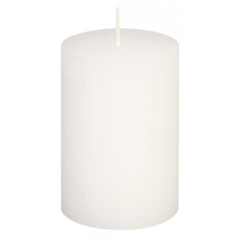 Svíčka RUSTIC bílá 19 cm