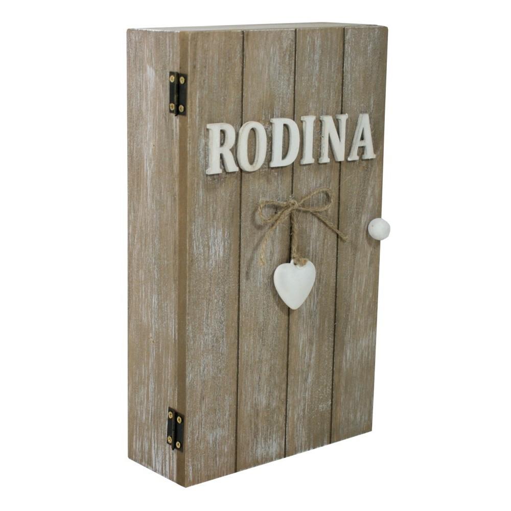 Dekorační skříňka na klíče RODINA