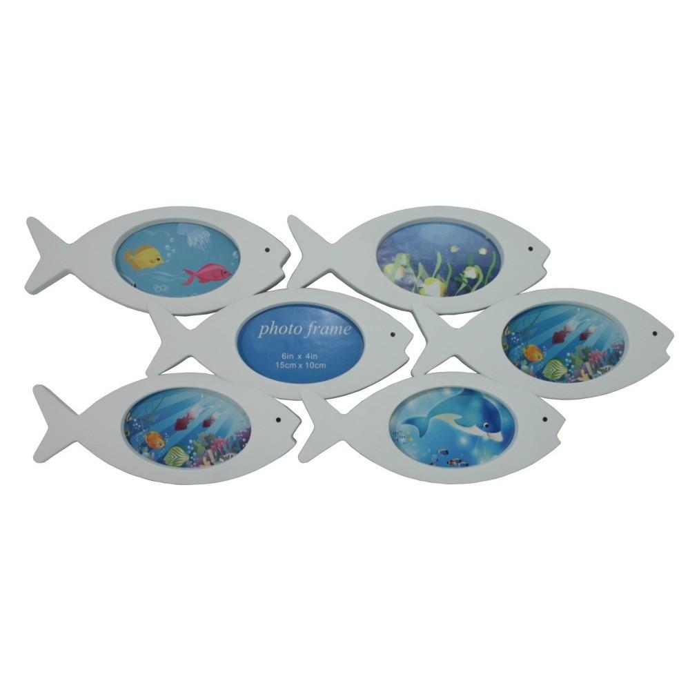 Fotorámeček bílý Ryby 6 fotografií