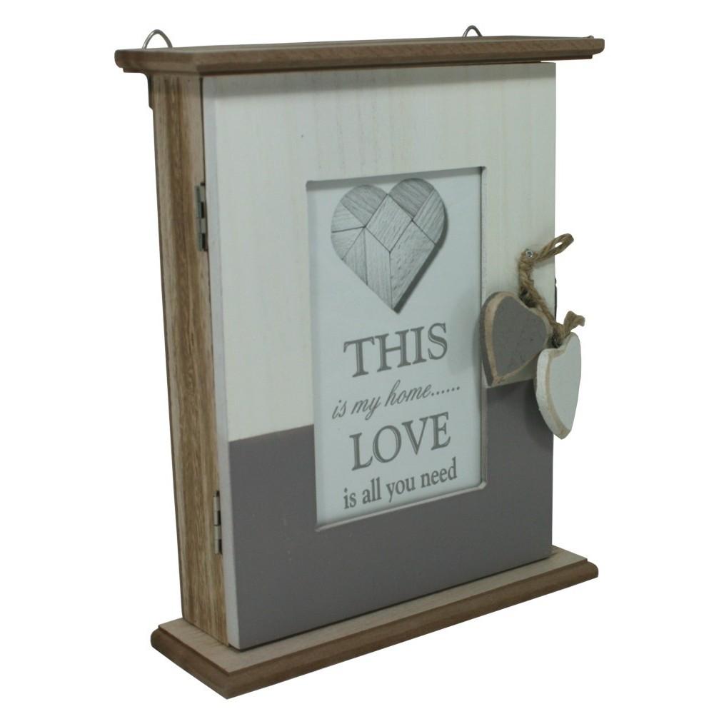 Dekorační skříňka na klíče dřevěná