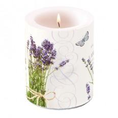 Svíčka maxi Lavender-kytice