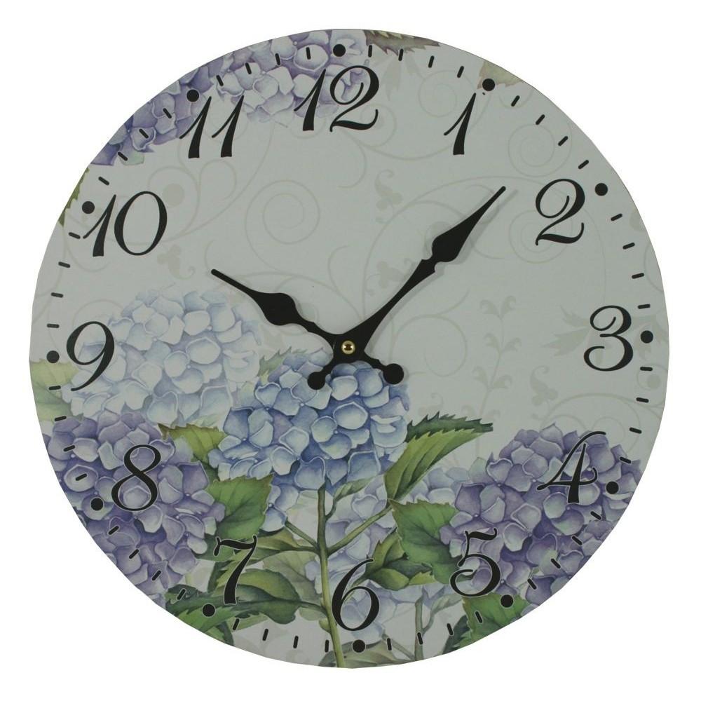 Nástěnné hodiny Hortensie keř