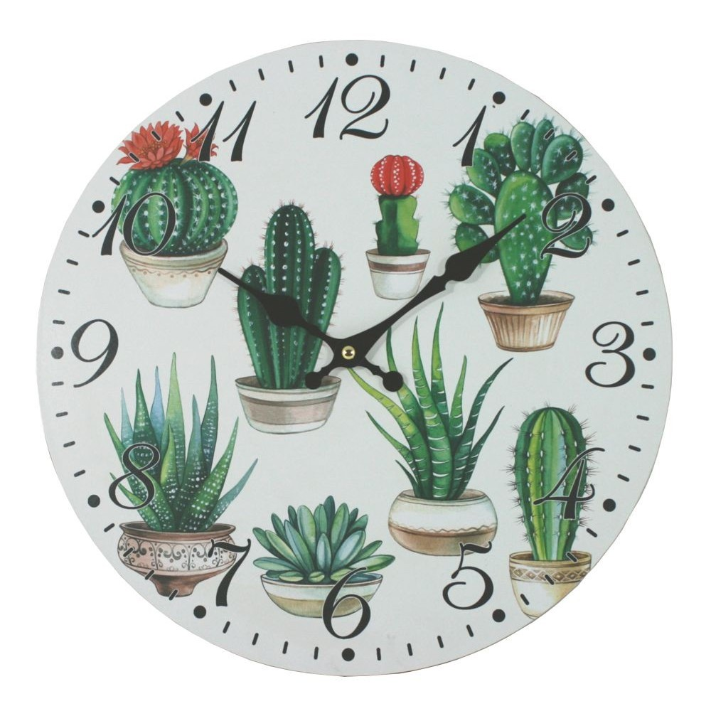Nástěnné hodiny Kaktusy
