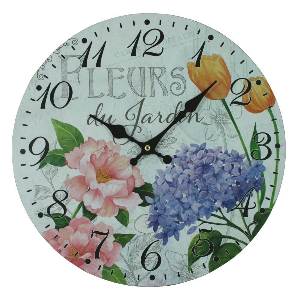 Nástěnné hodiny Fleurs