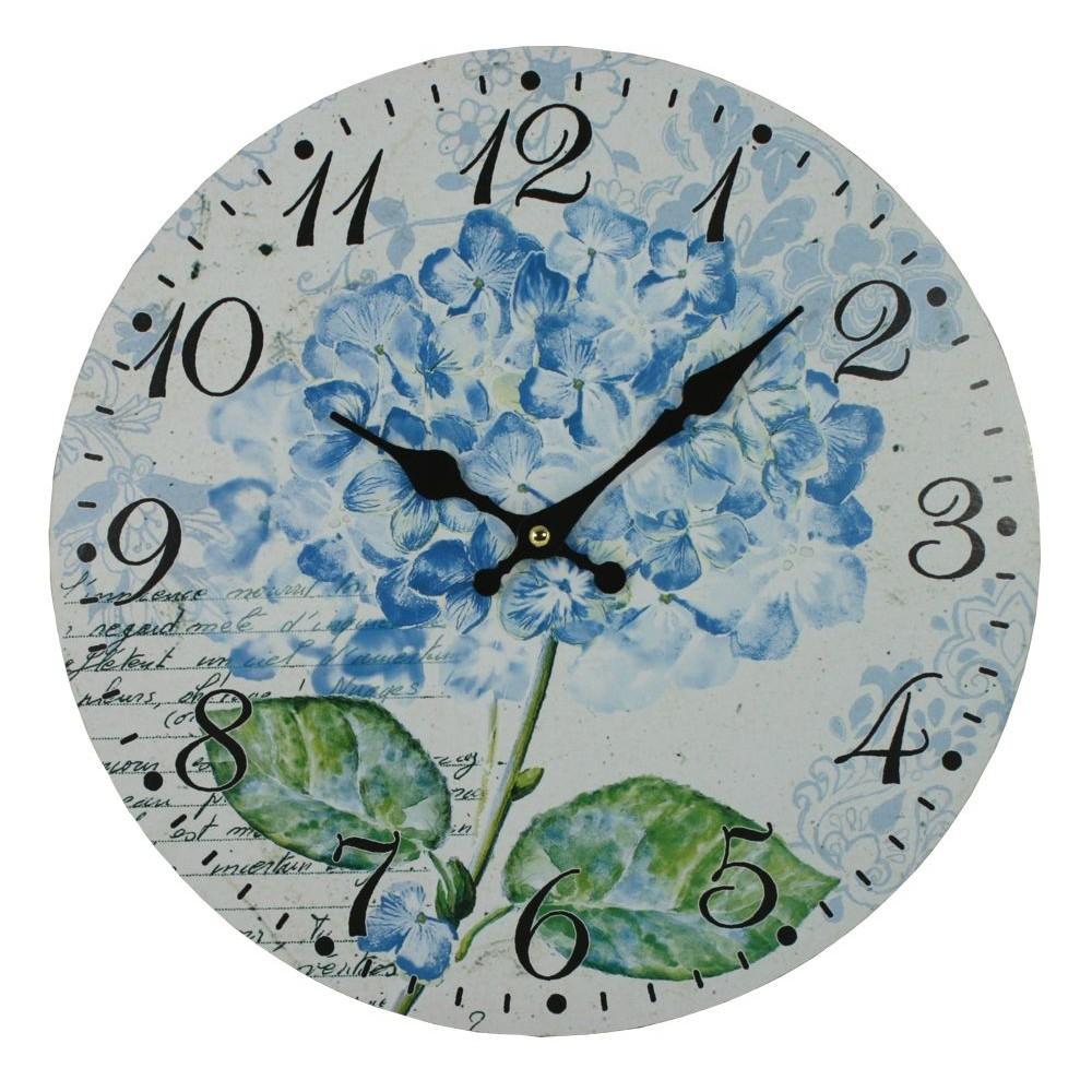 Nástěnné hodiny Hortensie květina