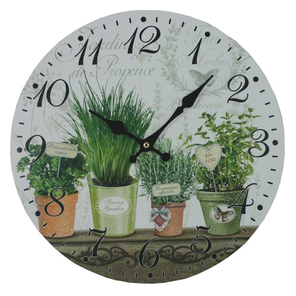 Nástěnné hodiny Bylinky