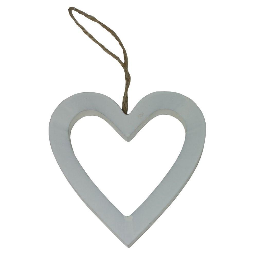 Dekorace srdce dřevěné 9 cm