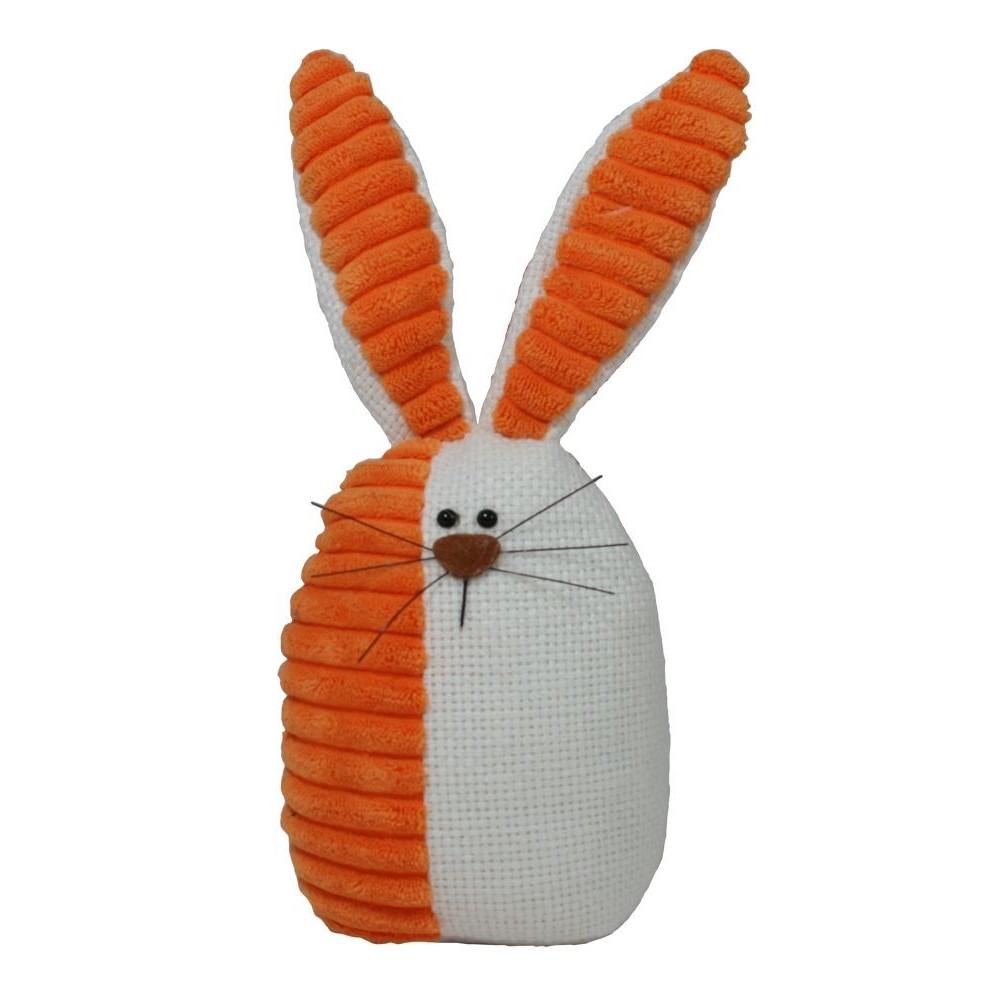 Zajíček látkový oranžový malý 26 cm