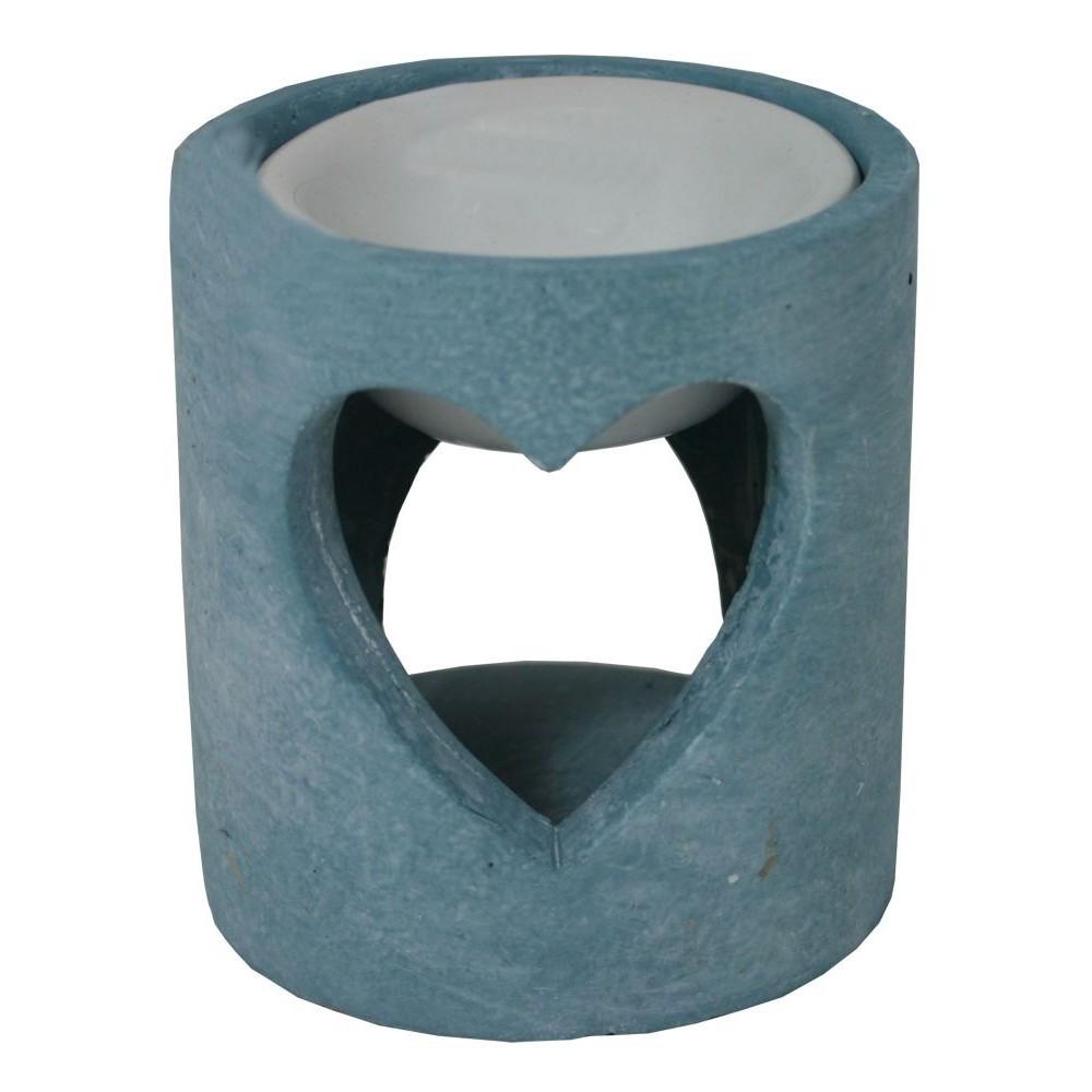 Aroma lampa srdce beton modrá