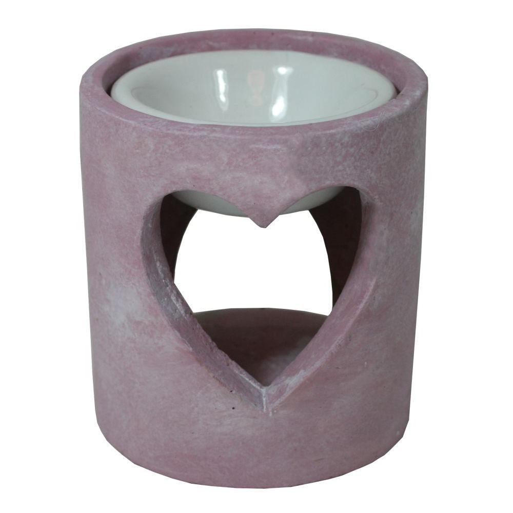 Aroma lampa srdce beton růžová