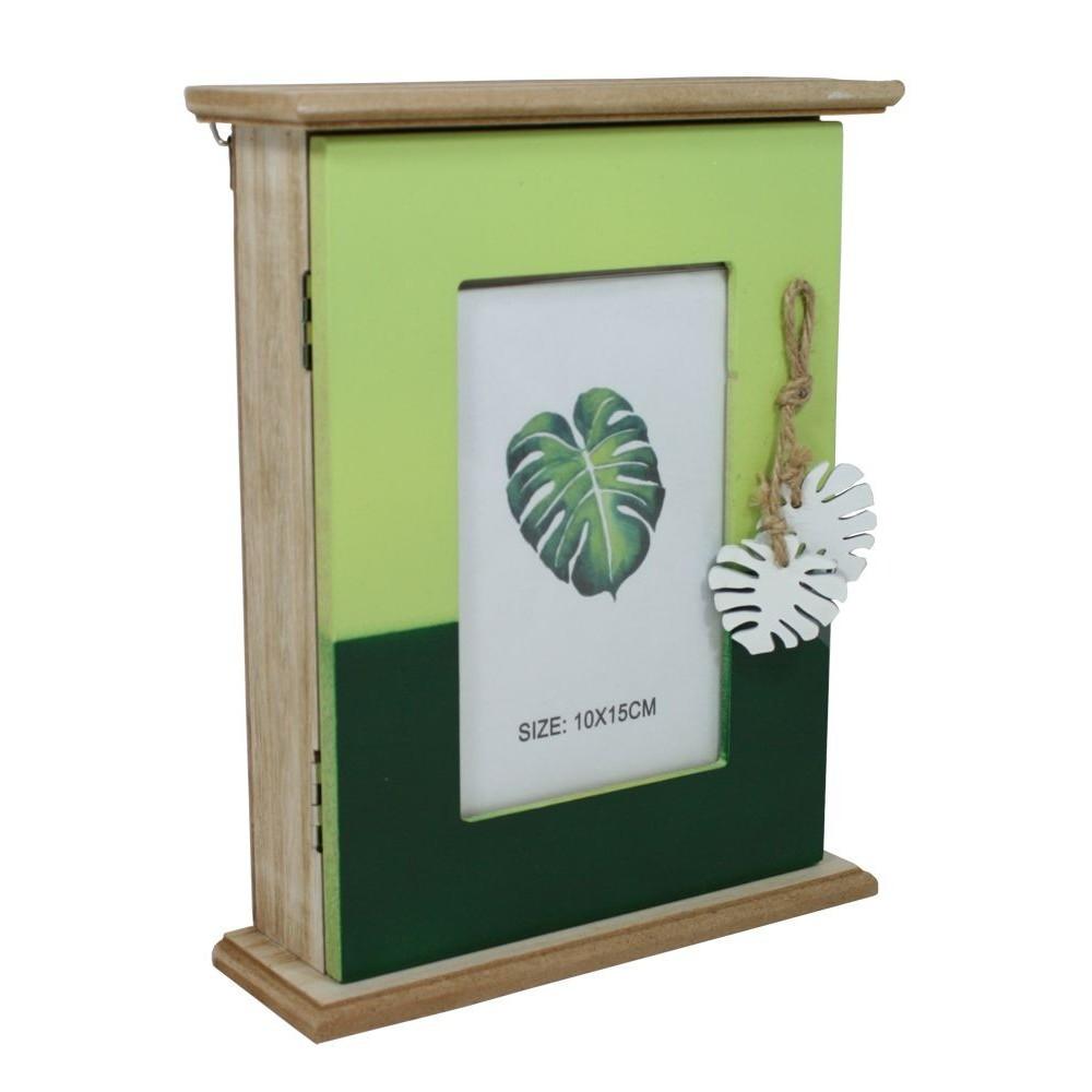 Dřevěná dekorační skříňka na klíče Jungle