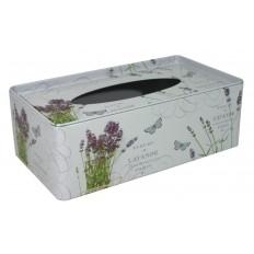 Plechová krabička na tissue Levandule svazek