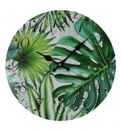nastenne-hodiny-tropicke-listy