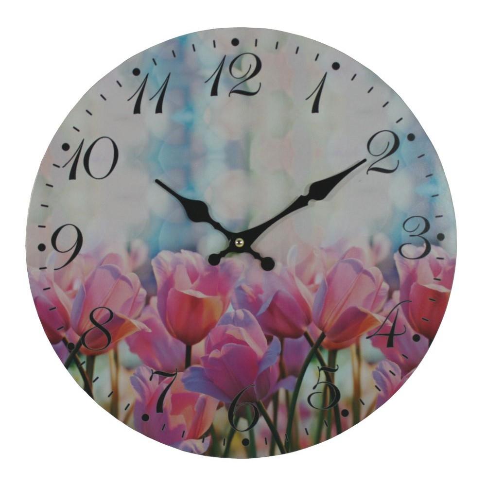 Nástěnné hodiny Tulipány
