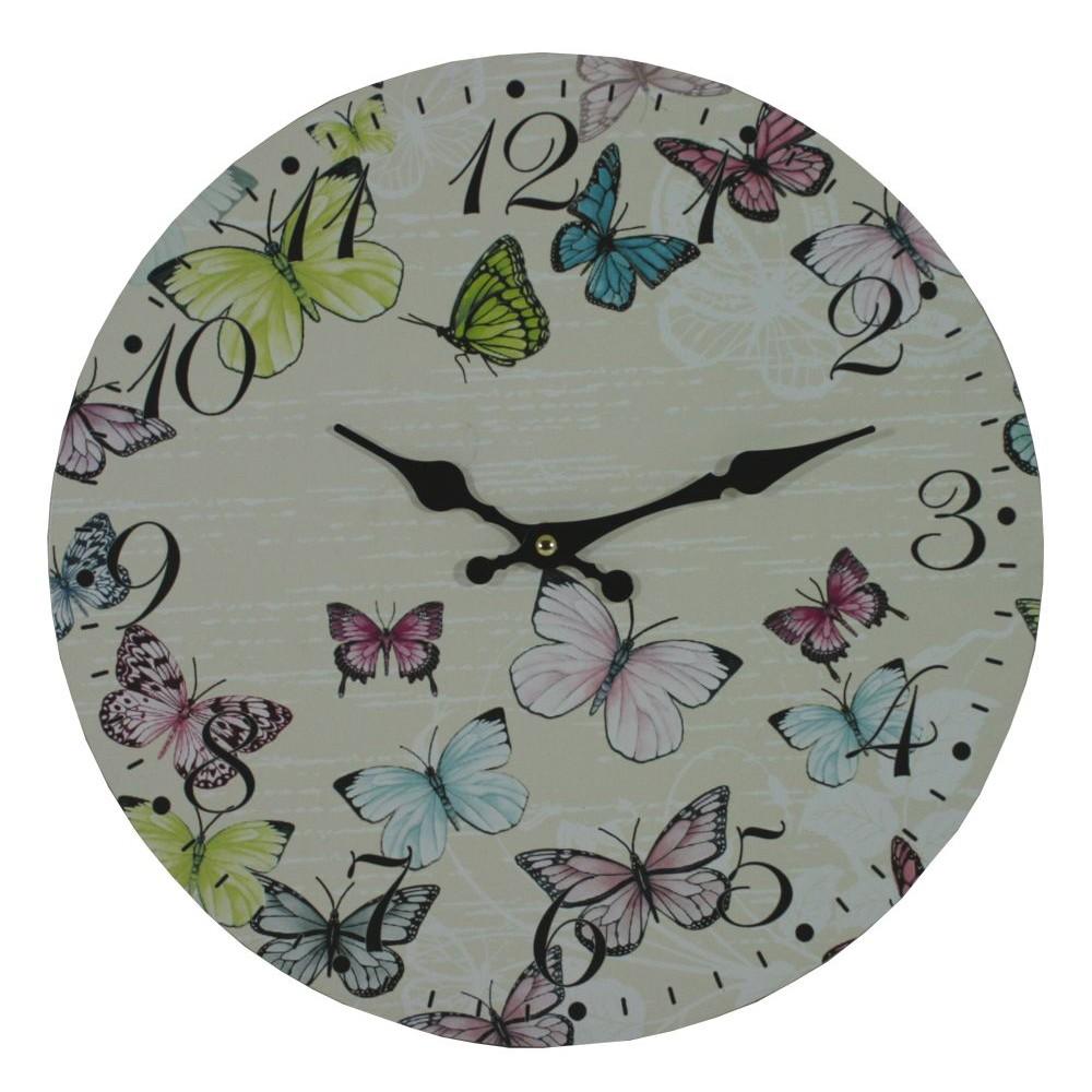 Nástěnné hodiny Motýlci