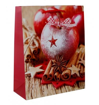 Dárková taška vánoční Jablko skořice