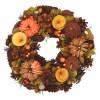 Věnec podzimní Papírové dýně 30 cm