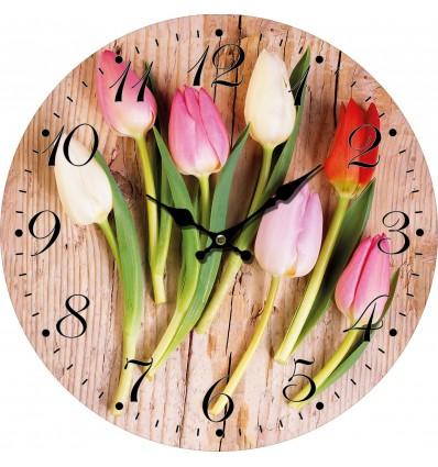 nastenne-hodiny-barevne-tulipany