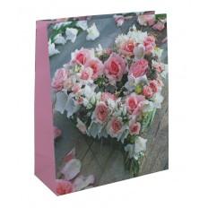 Dárková taška velká L - Srdce z růží