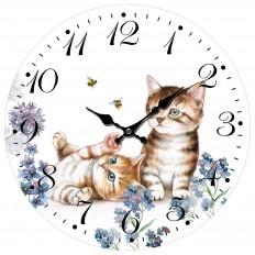 Nástěnné hodiny Koťátka
