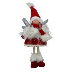Andělka stojící červená 45 cm