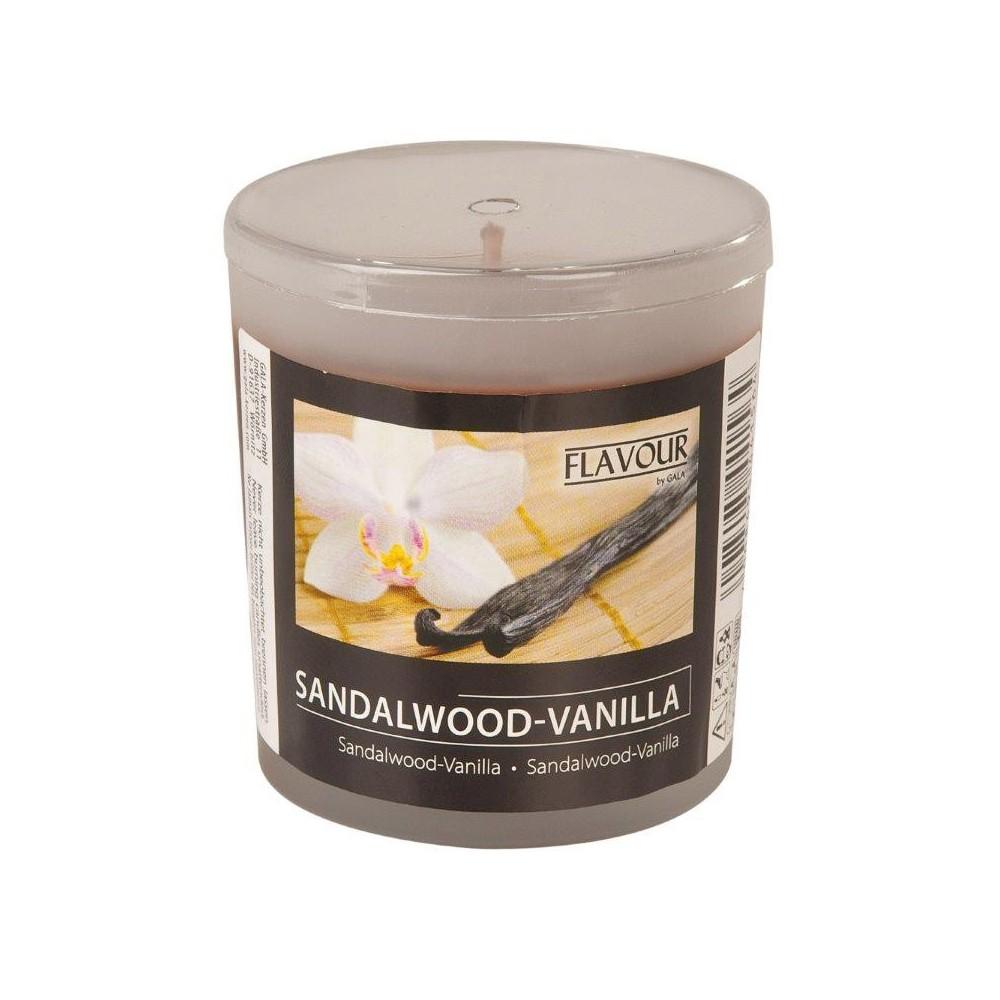 Svíčka vonná ve skle Santalové dřevo a vanilka