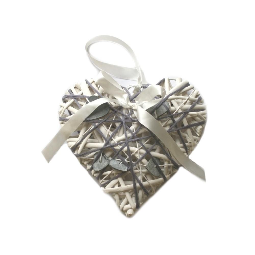 Dekorace závěsná dřevěná - Srdce malé 6*5 cm