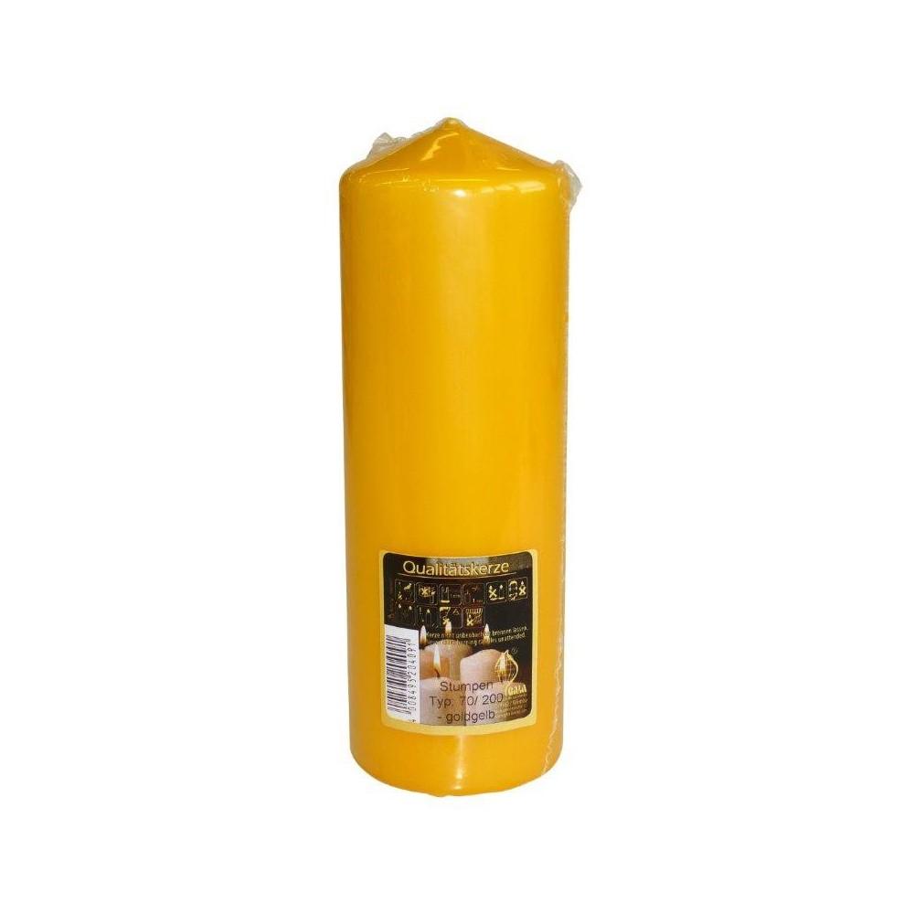 Svíčka válec 70/200 Žlutá