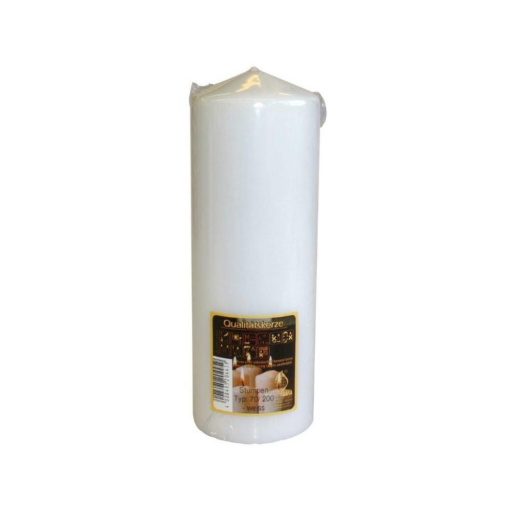 Svíčka válec 70/200 Bílá