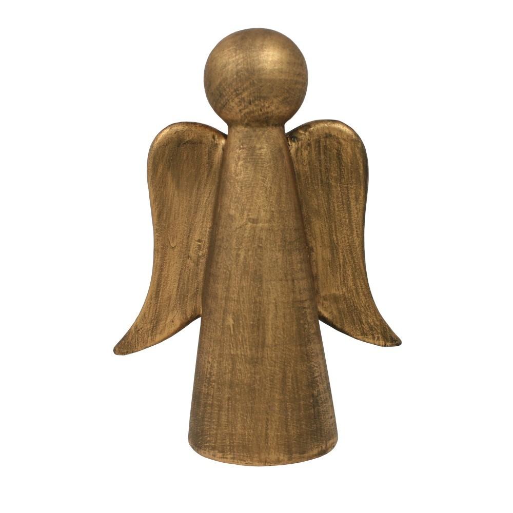Anděl keramický zlatý velký
