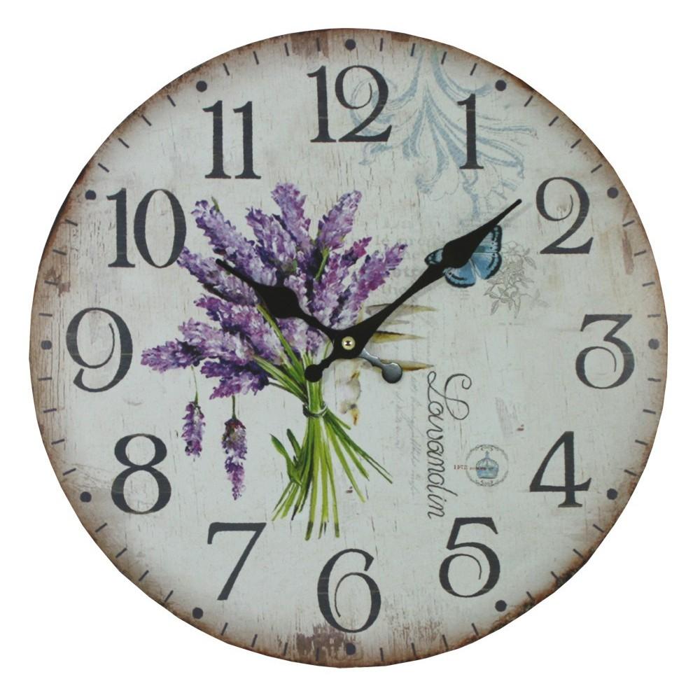 Nástěnné hodiny Levandule Kytička