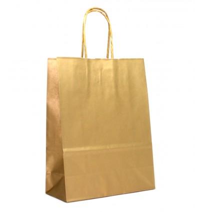 Dárková taška velká L - zlatá