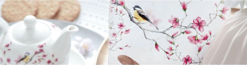 Dekorace s ptáčky, peříčka